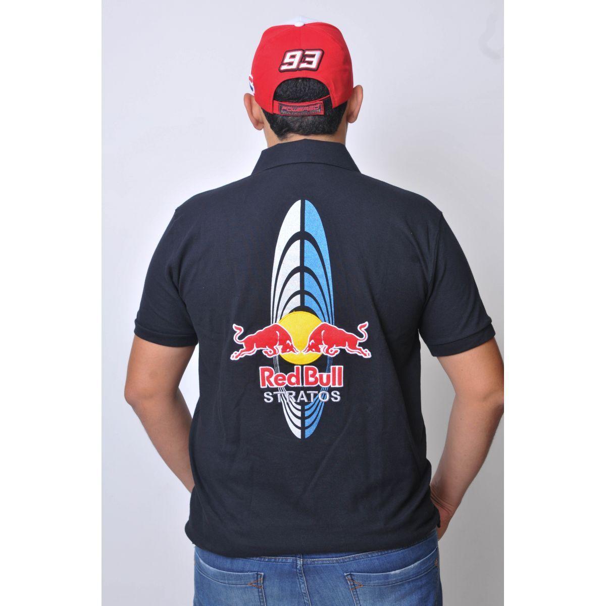 Camiseta Polo Red Bull Stratos Powered