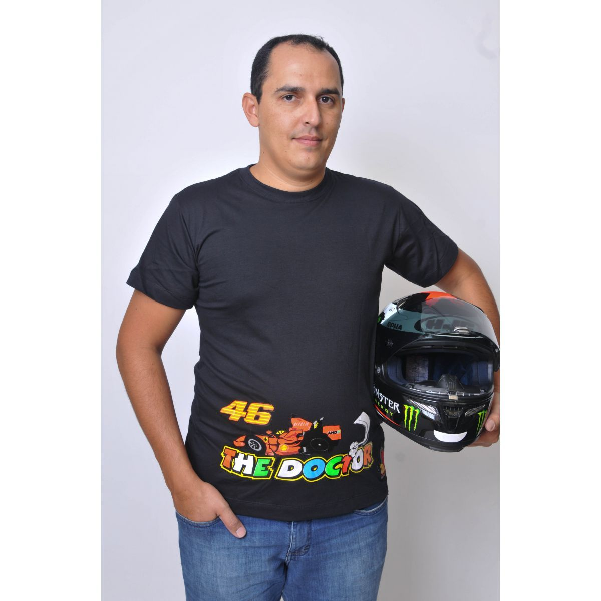 Camiseta Valentino Rossi The Doctor 46 Powered
