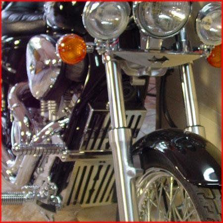 Capa do Radiador Shadow 600 Inox  Roncar  - Motorshopp