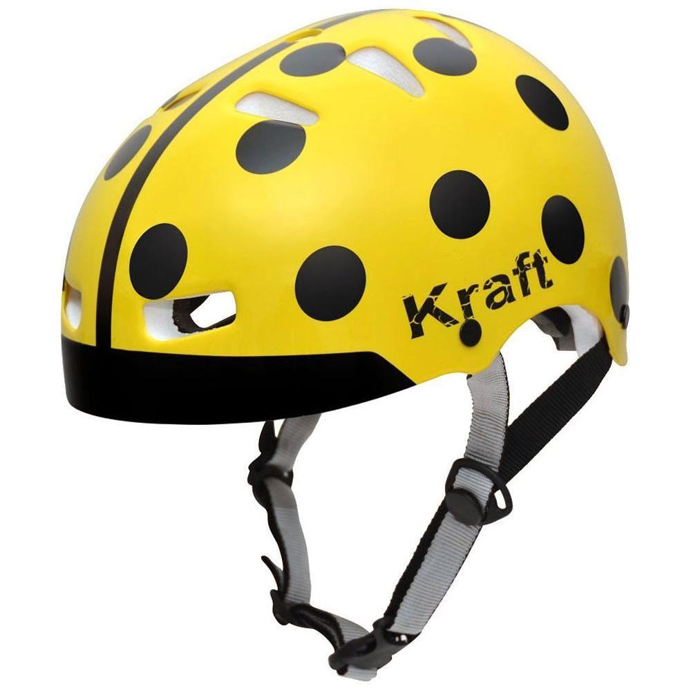Capacete Bike Joaninha Amarelo Kraft  - Motorshopp