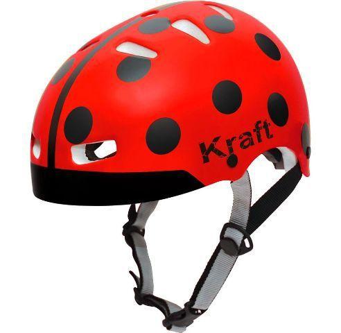 Capacete Bike Joaninha Vermelha Kraft