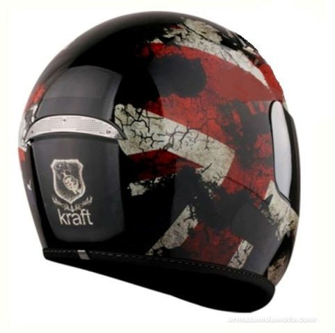 Capacete Uk Full Face Preto Brilho Kraft