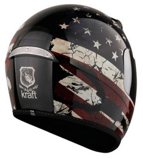 Capacete Usa Full Face Preto Brilho Kraft
