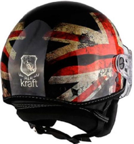 Capacete Uk Preto Brilho Kraft Plus