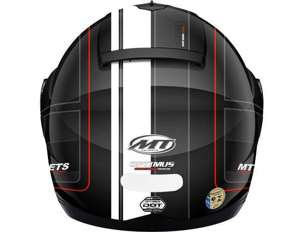 Capacete MT Optimus Raceline Escamoteável