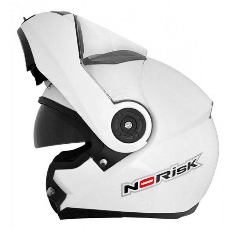 Capacete Norisk FF370 Mono Branco Escamotiavel  - Motorshopp