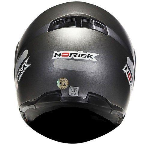 Capacete Norisk FF370 Mono Matt Titanium Escamotiavel  - Motorshopp