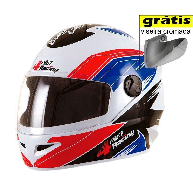 Capacete Pro Tork 4 Racing BRW  - Motorshopp