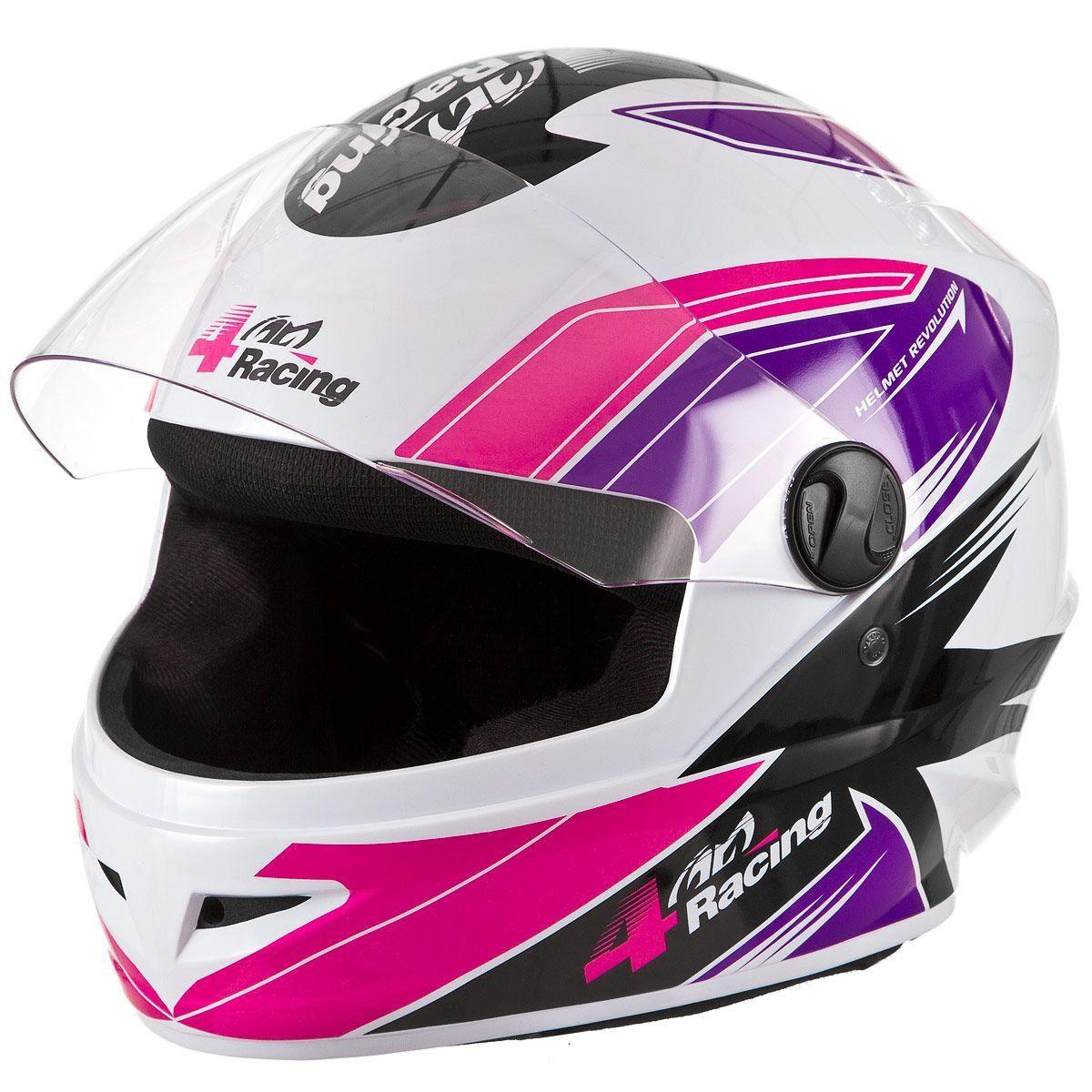 Capacete Pro Tork 4 Racing Pink
