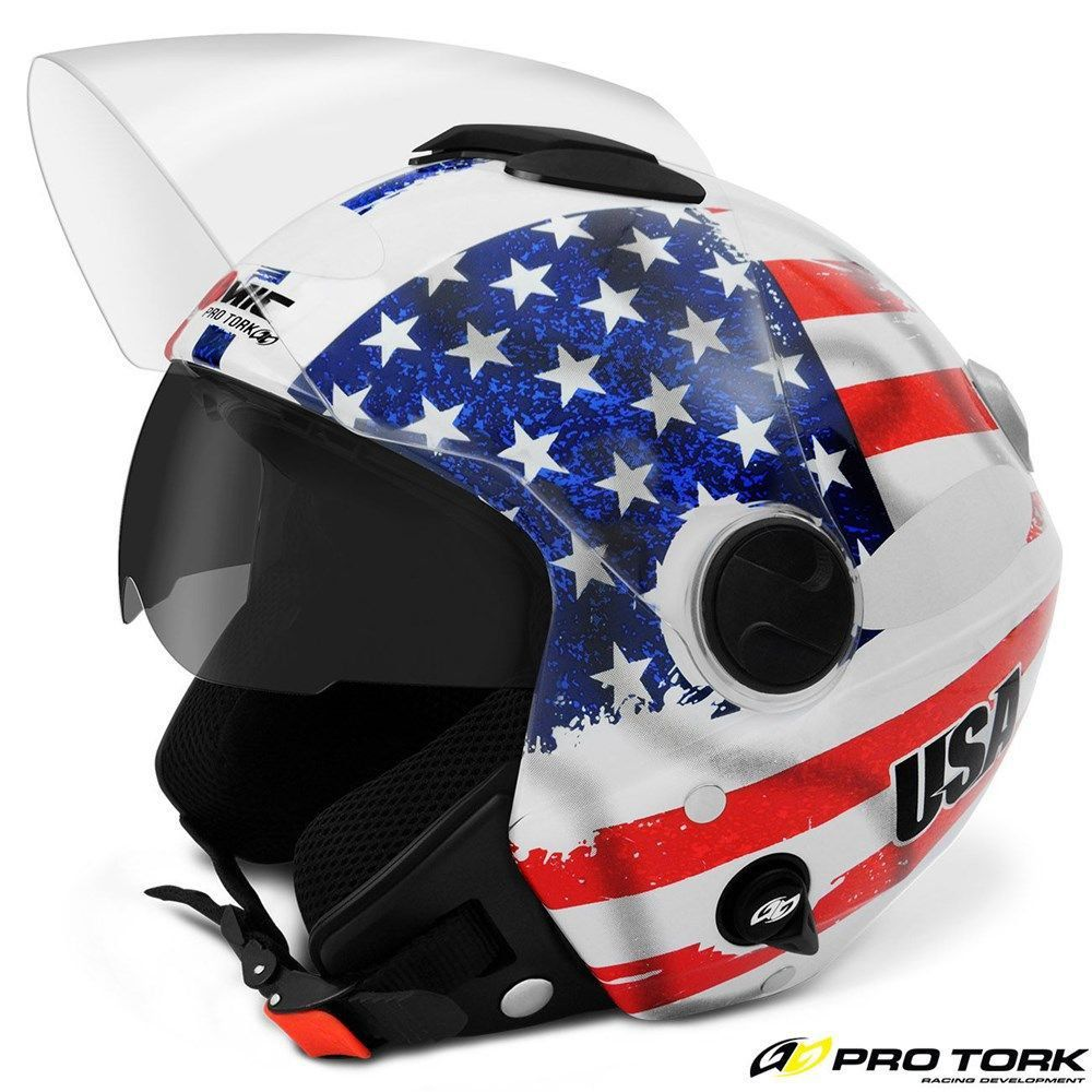 Capacete Tork Aberto New Atomic USA  - Motorshopp