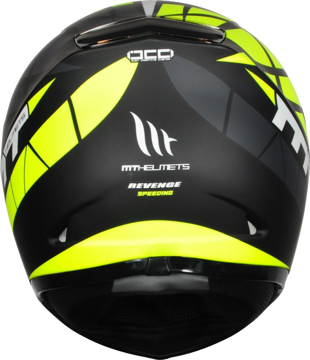 Capacete Revenge Speeding Preto e Amarelo Fosco MT  - Motorshopp