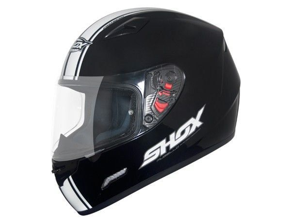 Capacete Shox Mugello Speed Black White  - Motorshopp