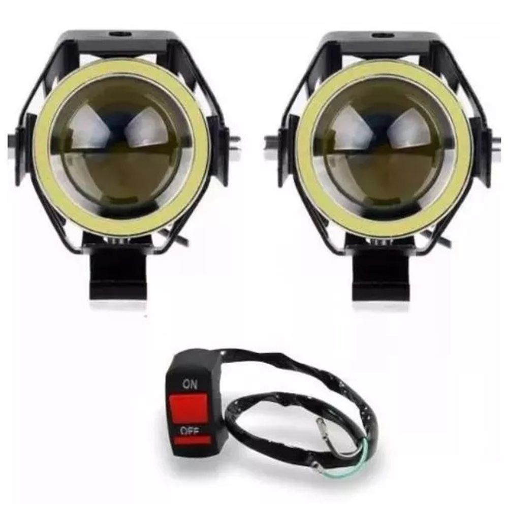 Farol de Milha LED (par) + Interruptor Stallion  - Motorshopp