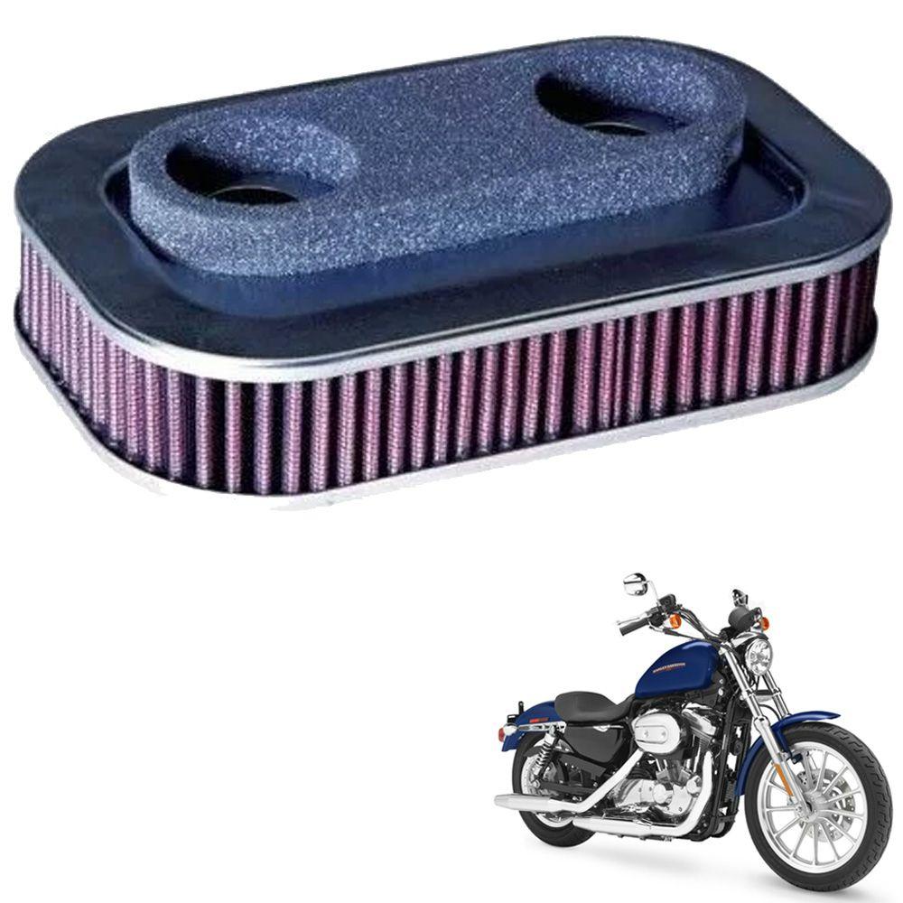 Filtro de Ar Harley Sportster XL 883 / XL 1200 88/03 K&N HD1388  - Motorshopp