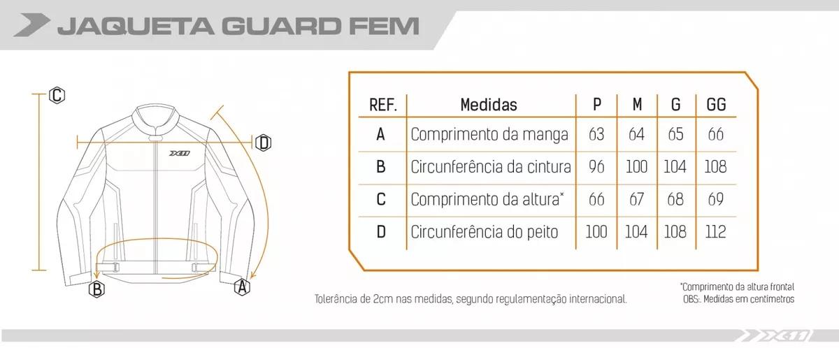 Jaqueta Guard Feminina Nylon Preto X11