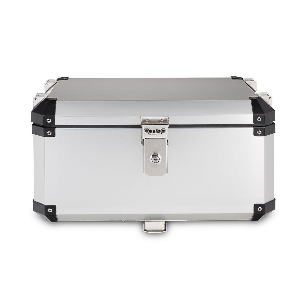 Kit Bauletos 55L V-Strom DL 1000 Aluminio Escovado Bráz