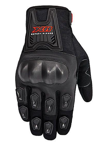 Luva Motociclista X11 Blackout Masculina