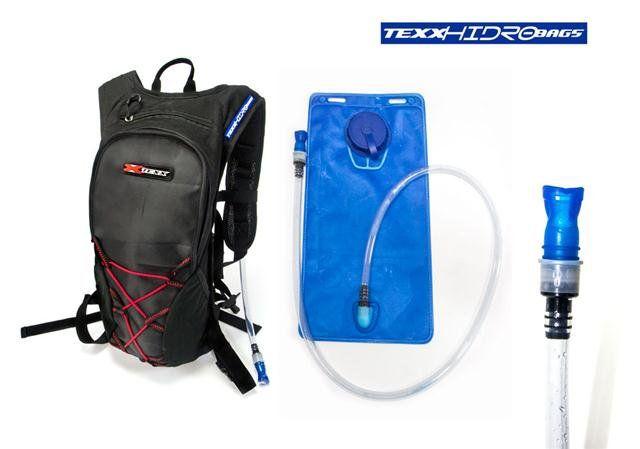 Mochila De Hidratação Texx Hidrobag  2 Litros  - Motorshopp