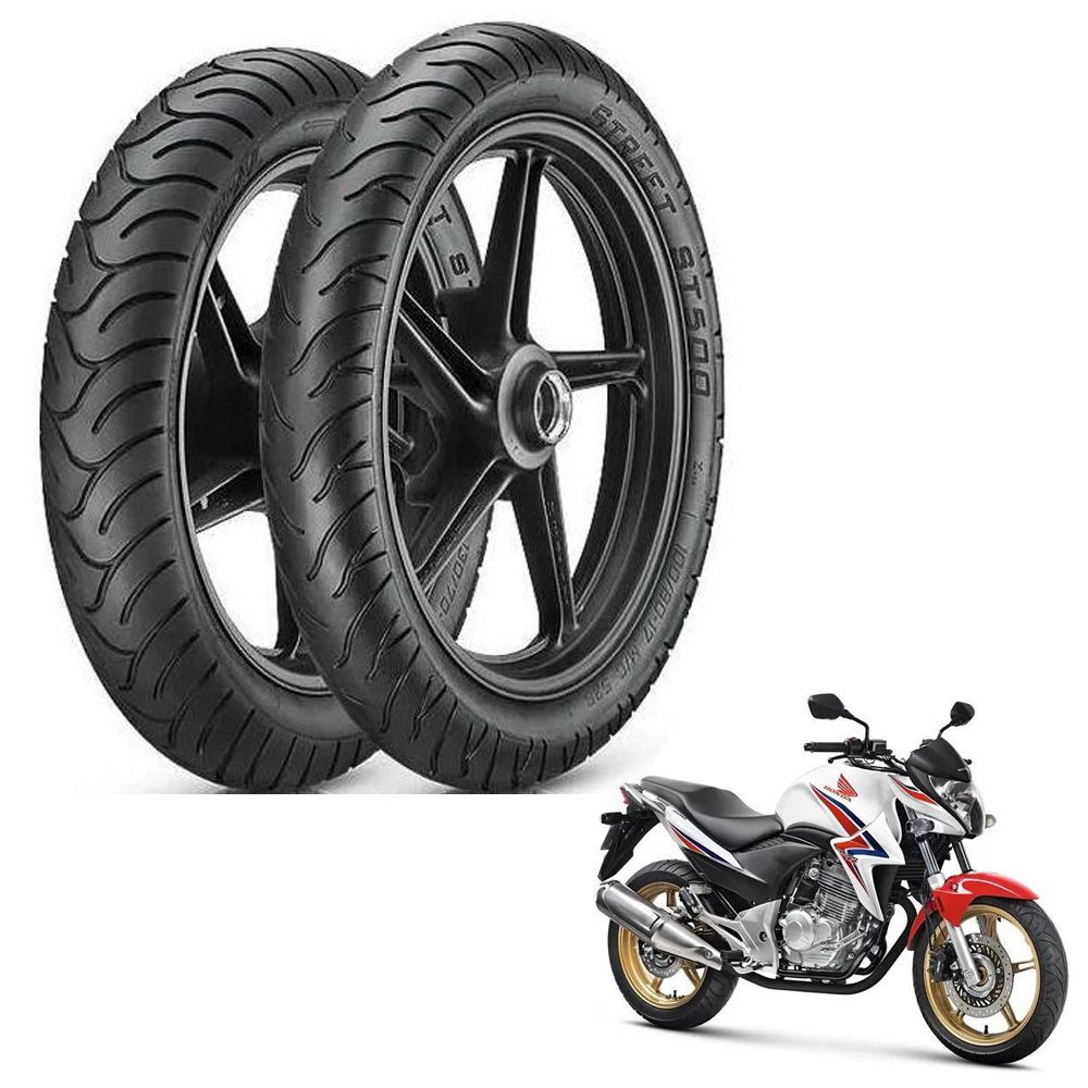 Par pneus Vipal ST 500 CB300  - Motorshopp