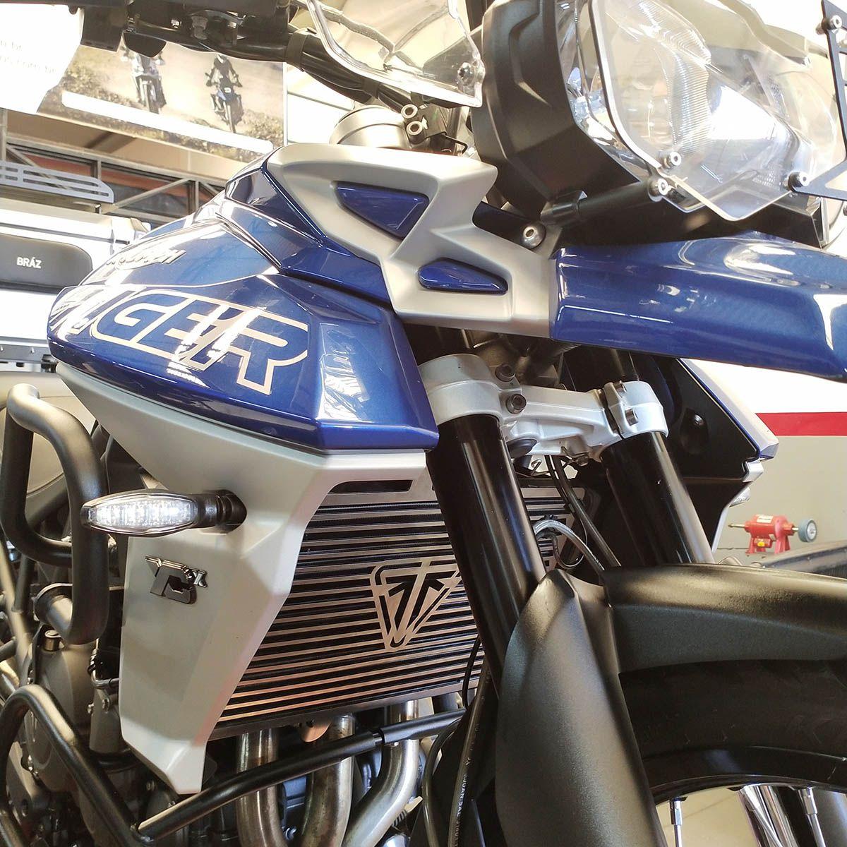 Protetor de Radiador Aço Inox Tiger 800 Bráz Acessórios  - Motorshopp