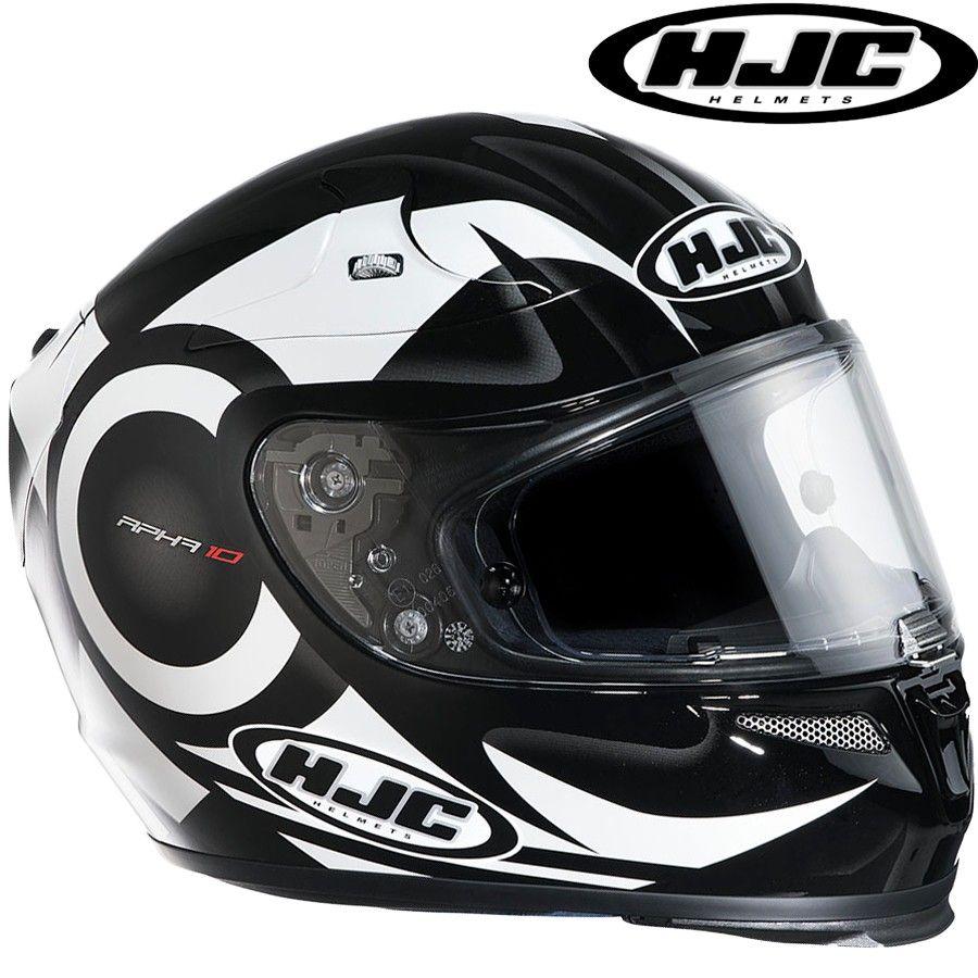 Capacete Hjc RPha 10 Furia Branco  Preto Mc10