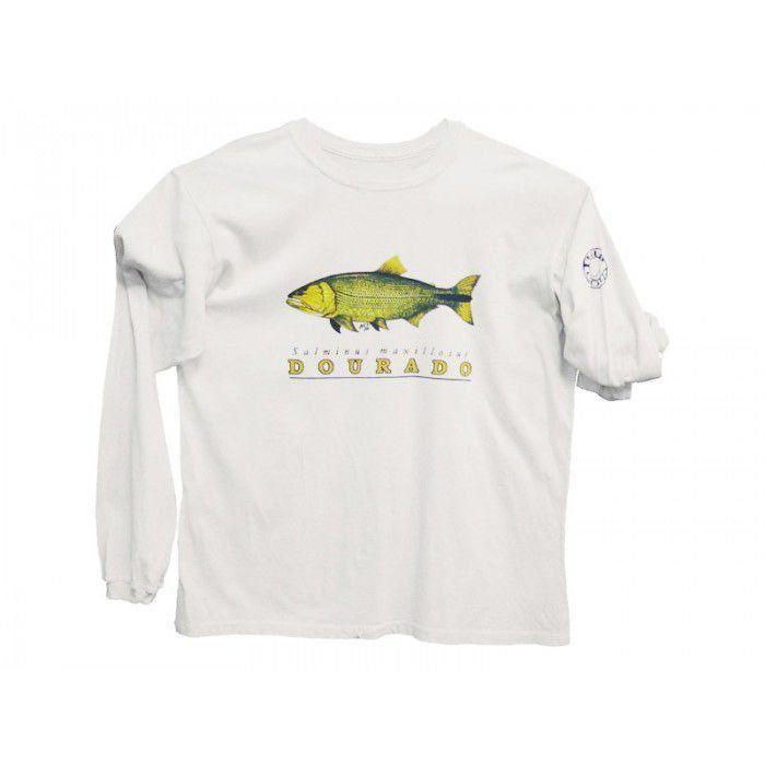 Camiseta Ballyhoo Protection Dourado Cor Branca Com Filtor UV Tamanho GG