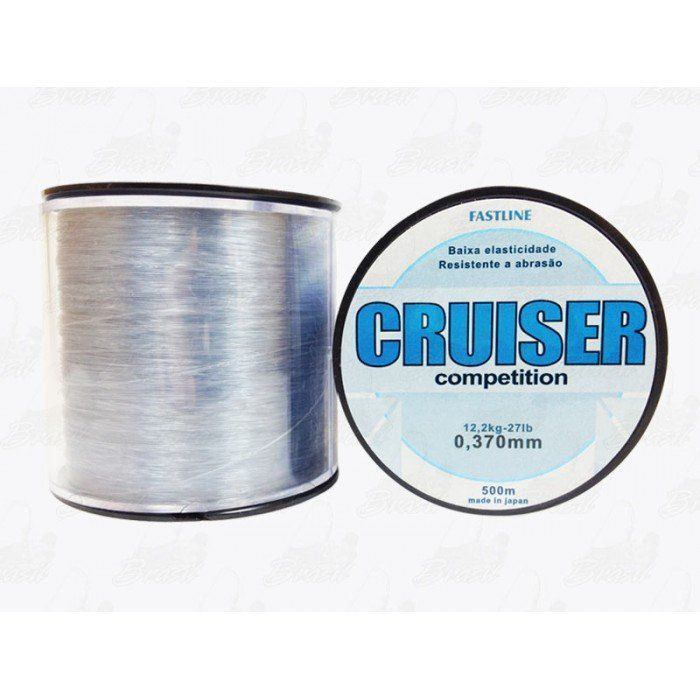 Linha Fastline Cruiser Competition 0,370mm 27lb 12,2Kg Nylon 500m Transparente