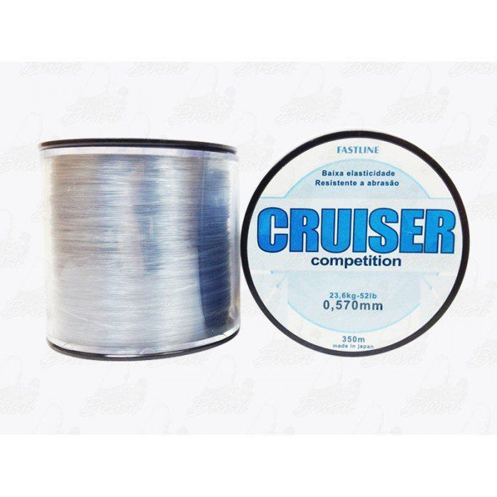 Linha Fastline Cruiser Competition 0,570mm 52lb 23,6Kg Nylon 350m Transparente