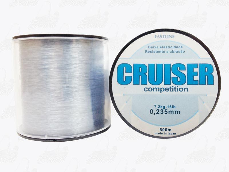 Linha Fastline Cruiser Competition (Transparente) 0,235mm 16lb Nylon 7,2KG 500M