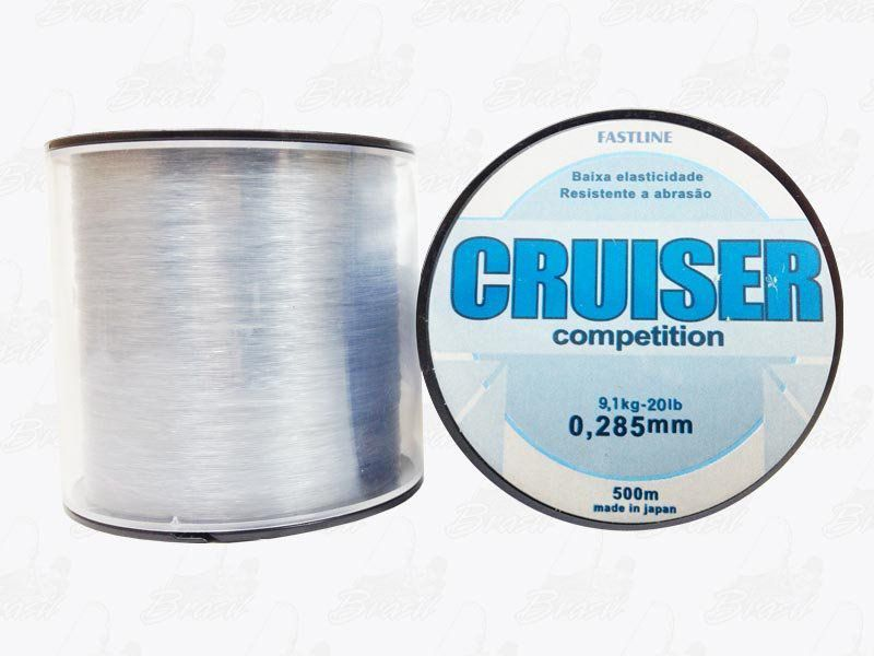 Linha Fastline Cruiser Competition (Transparente) 0,285mm 20lb Nylon 9,1KG 500M