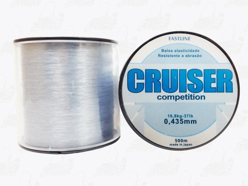 Linha Fastline Cruiser Competition (Transparente) 0,435mm 37lb Nylon 16,8KG 500M