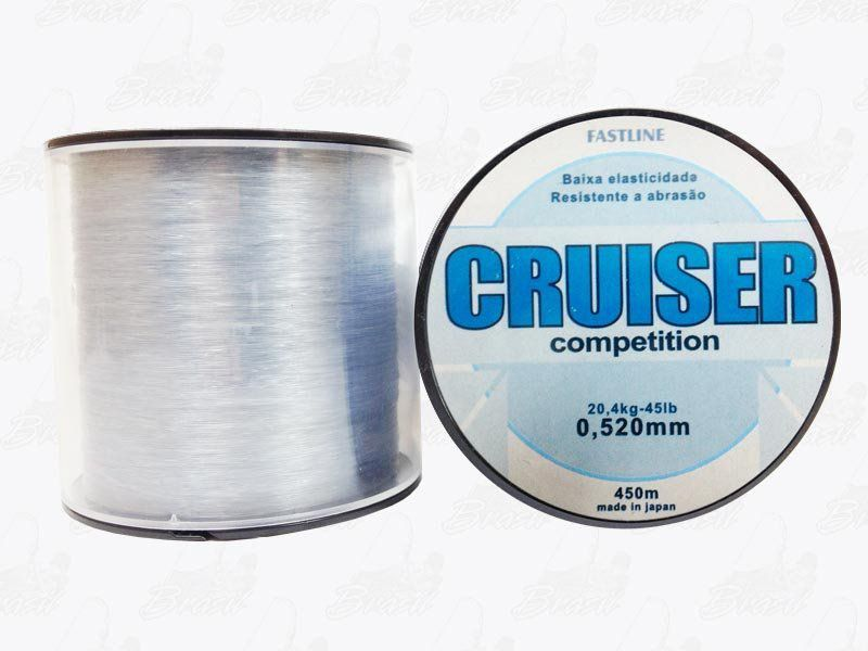 Linha Fastline Cruiser Competition (Transparente) 0,520mm 45lb Nylon 20,4KG 450M