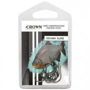 Anzol Crown Iseama Sure Black Ideal para Pesqueiros Número 13 com 10 Unidades