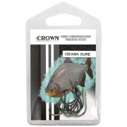 Anzol Crown Iseama Sure Black Ideal para Pesqueiros Número 20 com 10 Unidades
