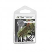 Anzol Crown Super Para Catfish Black Preto Número 4/0 Cartela Com 5 Unidades