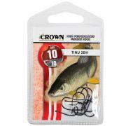 Anzol Crown Tinu para Piau ou Piapara 2-BH Black Preto Número 10 Cartela com 10 Unidades
