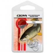 Anzol Crown Tinu para Piau ou Piapara Niquel Prata Número 05 Cartela com 10 Unidades