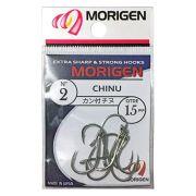 Anzol de Pesca Morigen Chinu Nickel 02 Cartela com 15 Unidades