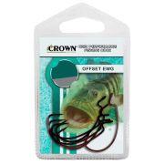 Anzol Offset EWG 3/0 Crown Forjado Cartela com 6 Unidades