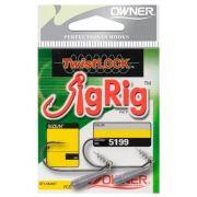 Anzol Owner Twistlock Jig Rig 4/0 Cartela c/ 2 unidades