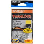 Anzol Owner Weighted Twist Lock Light 5167W 4/0 c/ 3 unidades