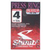 Argola Shout Press Ring Tamanho 4 53LB Para Suporte Hook Cartela com 10 unidades