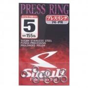 Argola Shout Press Ring Tamanho 5 155LB Para Suporte Hook Cartela com 9 unidades