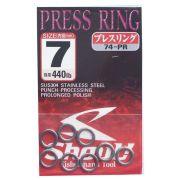 Argola Shout Press Ring Tamanho 7 440LB Para Suporte Hook Cartela com 8 unidades