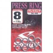 Argola Shout Press Ring Tamanho 8 770LB Para Suporte Hook Cartela com 8 unidades