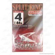 Argola Shout Split Ring Tamanho 4 44LB Para Isca Artificial Cartela com 20 unidades