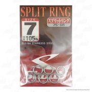 Argola Shout Split Ring Tamanho 7 105LB Para Isca Artificial Cartela com 6 unidades