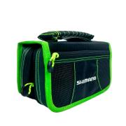 Bolsa com Estojo de Iscas Shimano Tackle Wallet Black/Green LUG1506