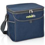 Bolsa Térmica com Alça de Ombro e Bolsos Echolife Blue 19 litros