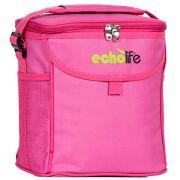 Bolsa Térmica com Alça de Ombro e Bolsos Echolife Pink 9 Litros